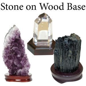 Stone on Wood Base