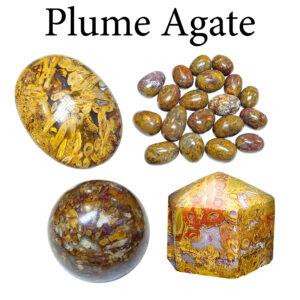 Agate, Plume