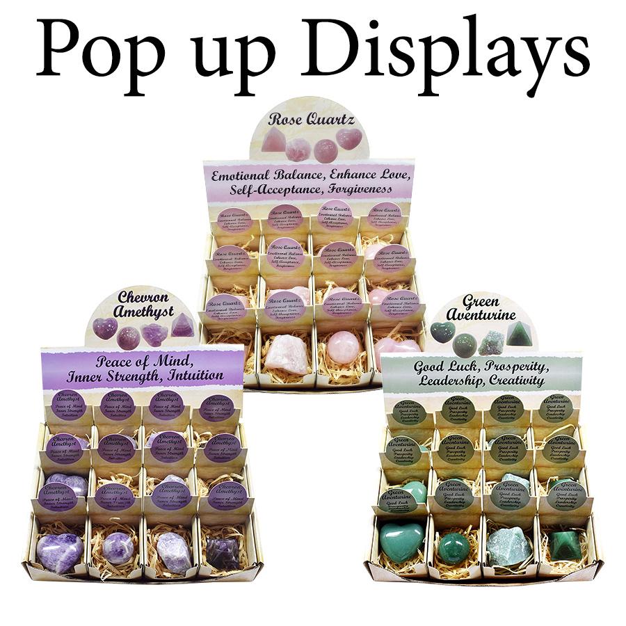 Stones in Pop up Display
